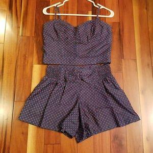 Other - Denim/polka dot matching set